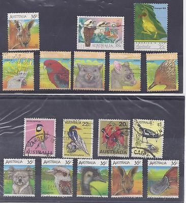 THEMATIC STAMPS Birds & Animals on Australian stamps