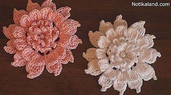 CROCHET Flower EASY Tutorial #crochet #crochetflower #freecrochetpattern #ravelry NotikaLand crochet and knitting - YouTube