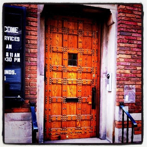 The door where KISS shot the album cover for The Elder