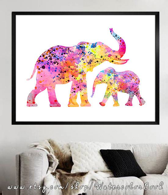 ... art print children s wall art animal watercolor watercolor painting