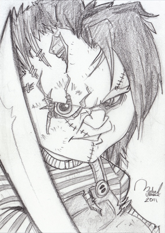 Chucky Chucky Drawing Pictures To Draw Badass Drawings