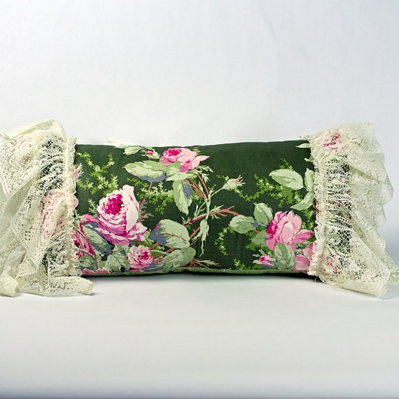 Shabby Chic Pillows Vintage Pillow Lace Pillow by brownsugardesign, ???????, pillow ...