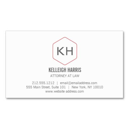 business cards for attorneys