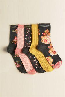 Five Pack Craft Floral Socks
