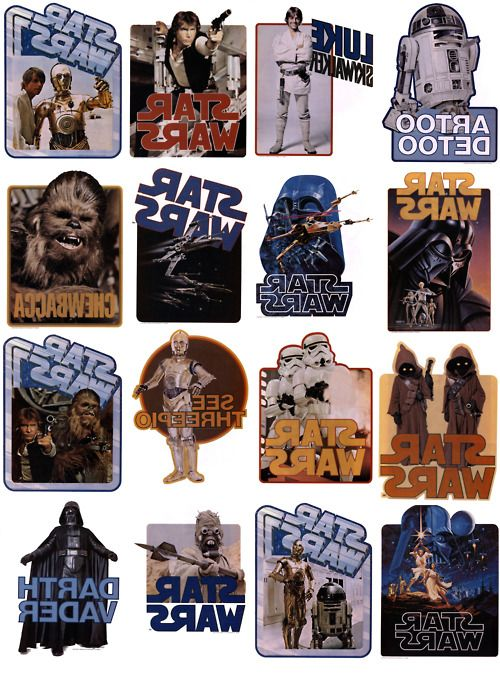 Free Star Wars printables from the Star Wars Iron On Transfer Book ('78)