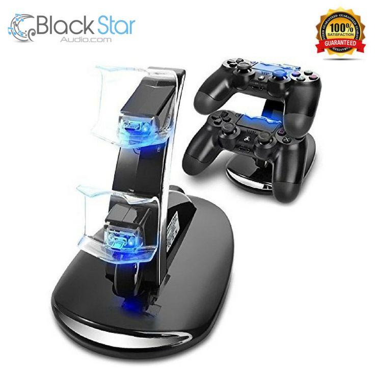 PS4 Controller Charging Station, Playstation 4 Games Dualshock 4 Dock Charger St #YTEAM