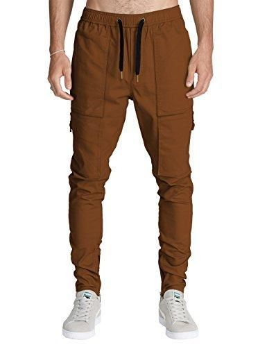 Italy Morn Men Chino Cargo Jogger Pants Casual Sweatpants Twill Khakis Slim  fit XL Camel