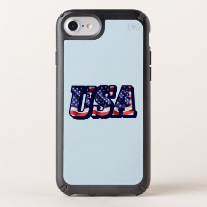 USA Flag Letters Flag iPhone 8/7/6s/6 Case - cyo diy customize unique design gift idea