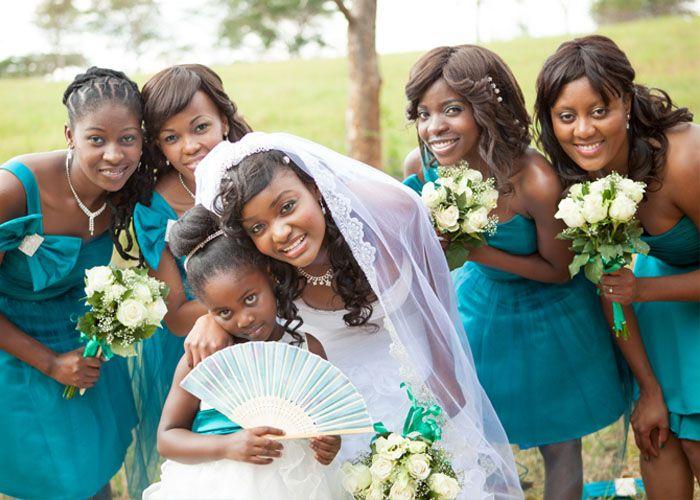 bride and bridesmaids - Dinah Wedding