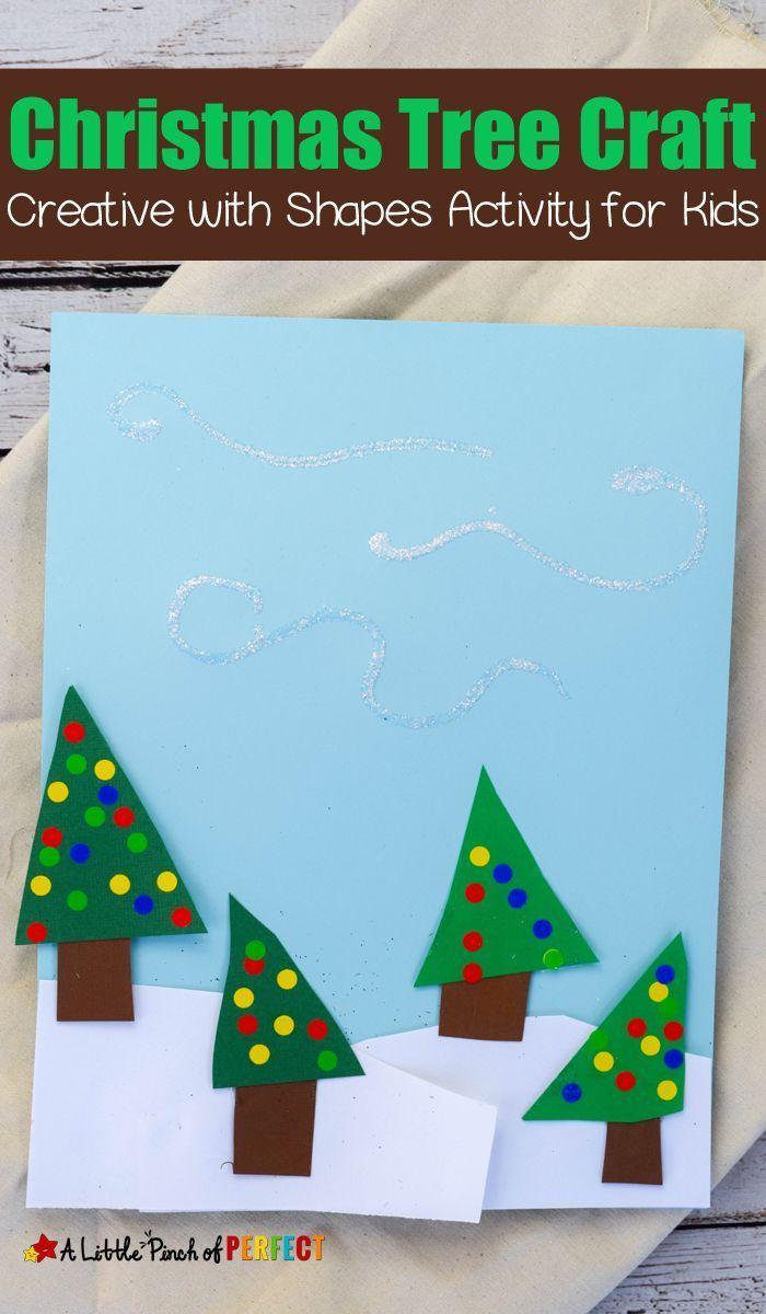 Easy Winter Scene Christmas Tree Shape Craft For Kids Winter Crafts For Kids Christmas Tree Crafts Preschool Christmas