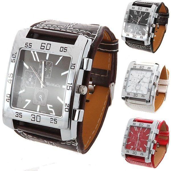 MW-5982   Fashionable Square Style Male Quartz Wrist Watch #mechanical #man #watch #wristwatch #menwatch #malewatch #quartzwatch #rhinestone #fashion #famousbrand #brandwatch #watchfashion #brand #famous