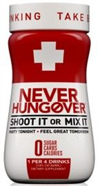 Picture of Never Hungover Dietary Supplement 2 fl oz (Pack of 12) - Item No. 28028-14427