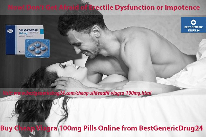 #Cheap #viagra 100 mg tablet falls under the groups of PDE5 enzyme inhibitors, which are highly recommended medicament in the physical #erection problems in men. Viagra 100 mg increases the flow of blood towards the male penile area and leads to hard erection in men. So, buy cheap viagra 100mg online from #BestGenericDrug24 online #pharmacy at best price. Visit at http://www.bestgenericdrug24.com/cheap-sildenafil-viagra-100mg.html