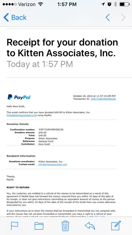 In September 2016 we supported Kitten Associates and the Modified Dolls Illinois Chapter raised $49 #donations for them. We are the Different making a Difference! <3 #ModifiedDolls #ILdolls #NonProfit #fundraising #KittenAssociatesINC
