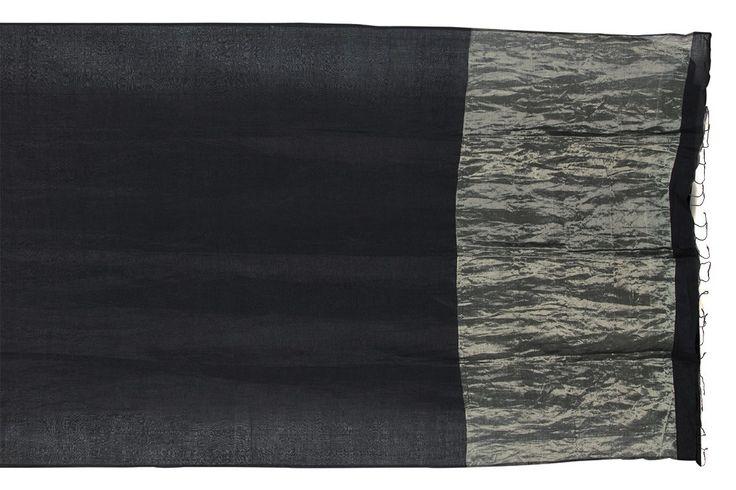 Galang Gabaan Handwoven Linen Cotton Sari 1020308 - Sari / Linen - Parisera