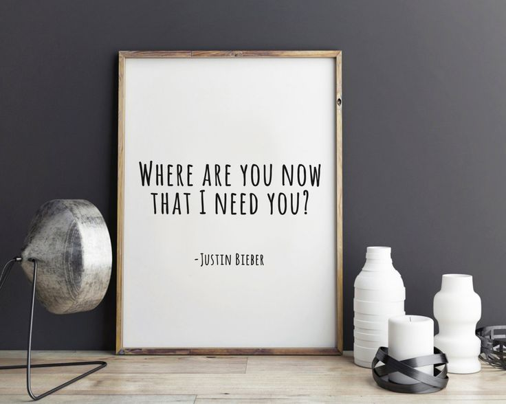 New to StyleScoutDesign on Etsy: Justin Bieber song quote Where are you now print dorm room decor dorm decor Justin Bieber poster (5.44 USD)