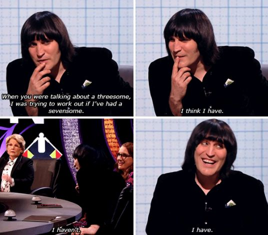 "23 Weird Things Noel Fielding Has Said That He Probably Can't On ""Bake Off"" - ""The moonlight always made The lonely Prince vomit in right angles x"" -  1. He definitely can't get away with his usual lines hosting Great British Bake Off."