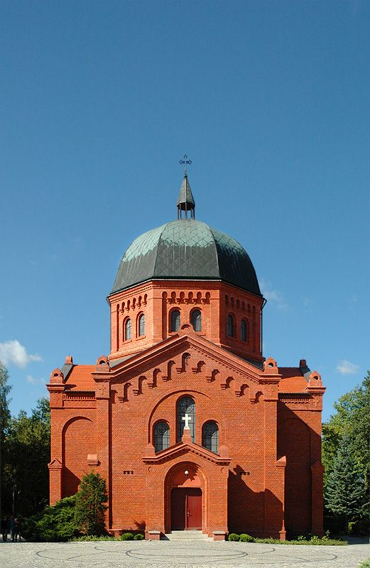 Chapel at the Grabiszynski Cemetery in Wroclaw. It is one of the largest cemeteries in the city and was founded in 1881.