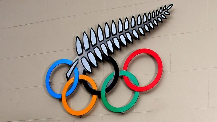 The New Zealand silver fern with Olympic logo