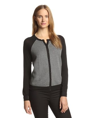67% OFF Bella Luxx Women's Raglan Cardigan (Charcoal)