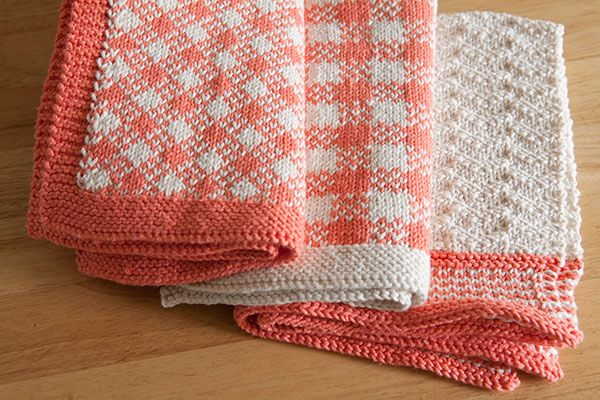 Gingham Towel Set - Knitting Patterns and Crochet Patterns from KnitPicks.com by Edited by Knit Picks Staff