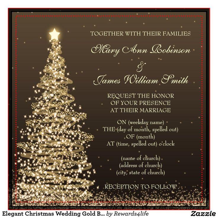 Christmas Wedding Invitations & Announcements | Zazzle