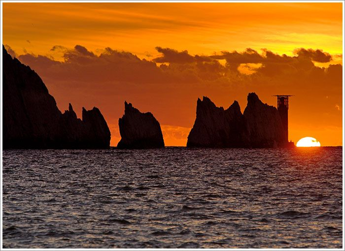 The Needles at Sunset, Isle of Wight