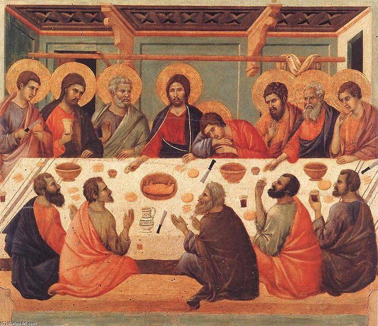 'Last Supper', Tempera by Duccio Di Buoninsegna (1257-1318, Italy)