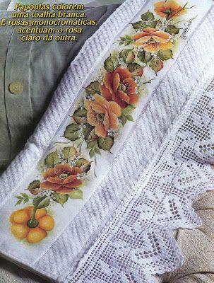 Art'sanália : Riscos para pintar barrados em toalhas!