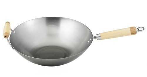 Helen Chen'S Asian Kitchen 14-Inch Carbon Steel Wok By Hic Harold Import Co.Xkw