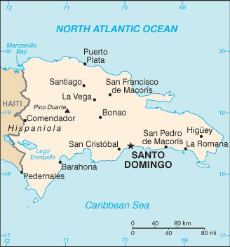Facts and Info Country of Dominican Republic Map