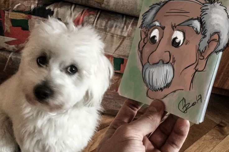 Casper & a handdrawn, old man // skatch