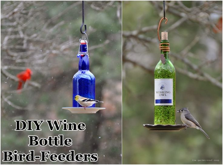Source: DIY Wine Bottle Bird-Feeders