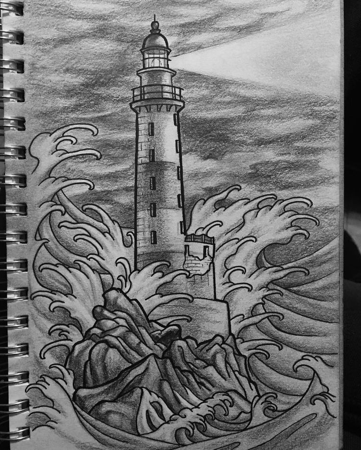 Fun little #lighthouse #sketch from this morning by artofbrian