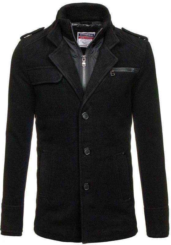 Pánský kabát - Alan, černý