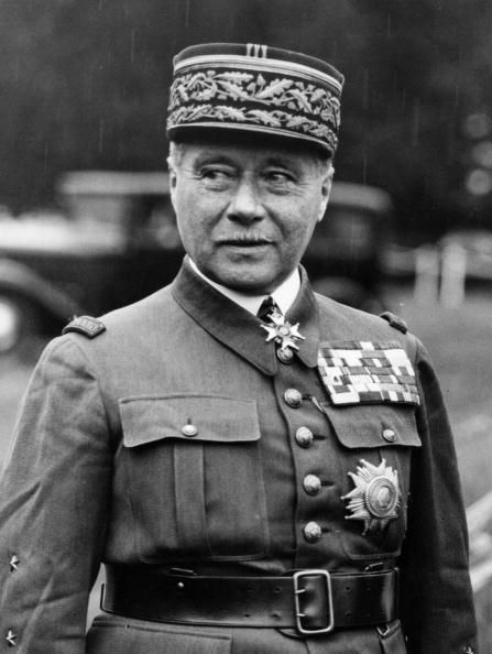 Général d'armée Maurice Gustave Gamelin --- (20 September 1872 – 18 April 1958) was a French general. Gamelin is remembered for his unsuccessful command of the French military in 1940 during the Battle of France and his steadfast defense of republican values. Bio: http://en.wikipedia.org/wiki/Maurice_Gamelin Photo: http://www.gettyimages.com/detail/news-photo/french-general-maurice-gustav-gamelin-news-photo/3067503