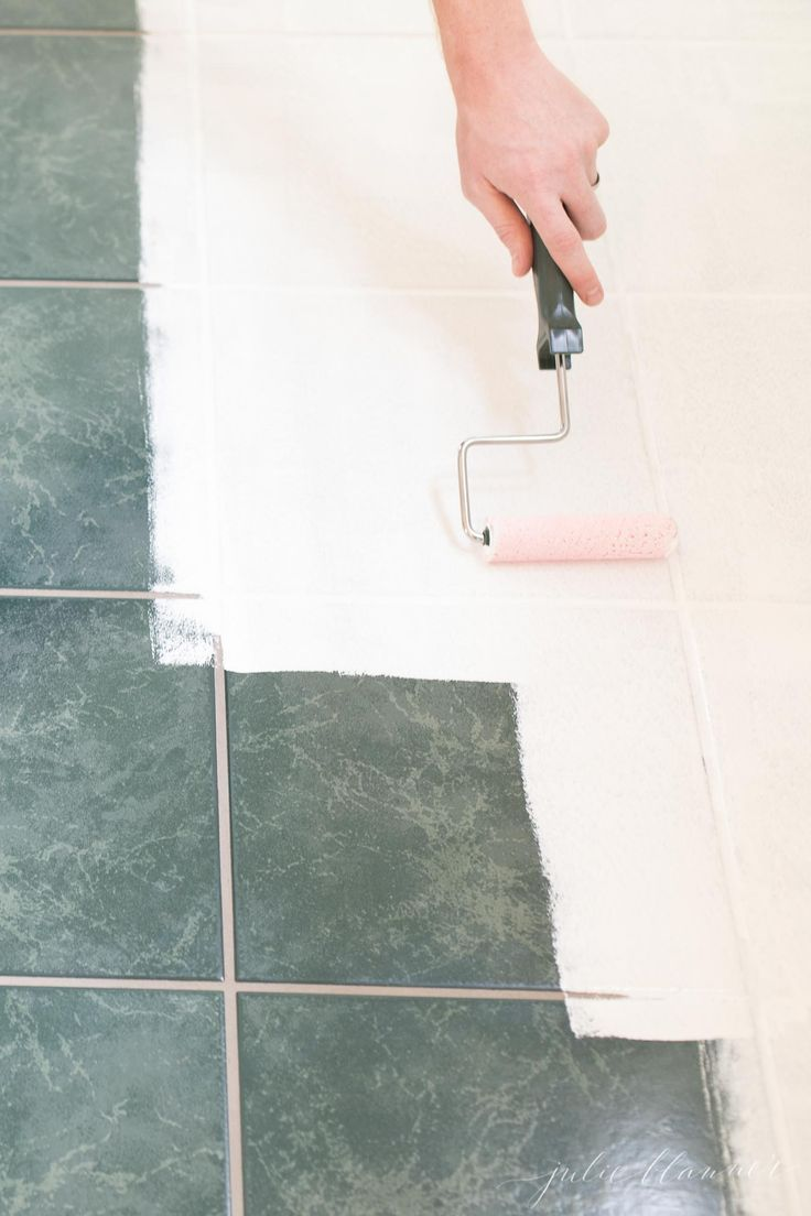 Everything You Need To Know About Tile Paint Yes You Can Paint Tile Including Where To Purchase Painting Tile Painting Tile Floors Painting Ceramic Tiles