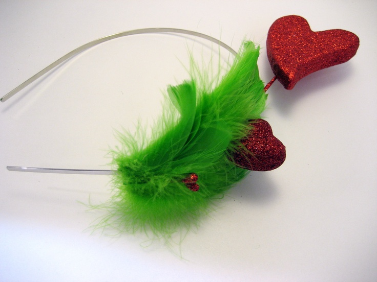 Grinch Heart Headband