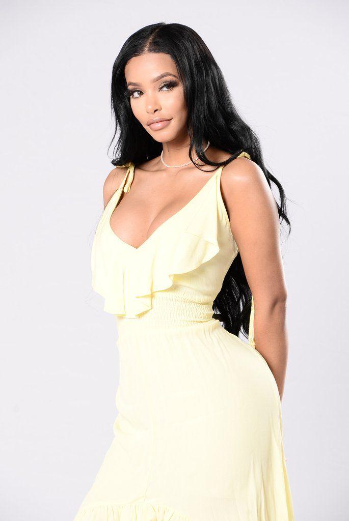 Picnic Date Dress - Lemon