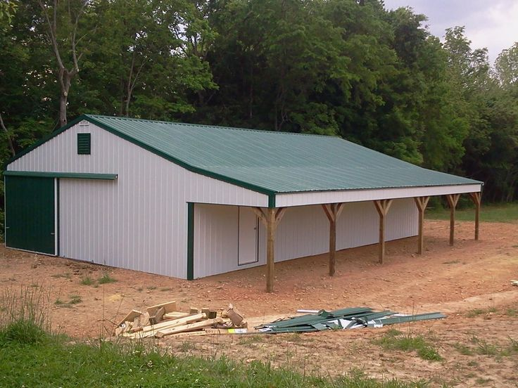 30x50x10 Post Frame Building : With shed post frame building