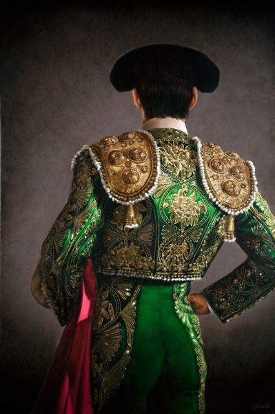 Christian Gaillard, 'Torero' series, Matador in Emerald and Gold