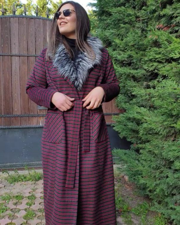 Kar Kapida Kabanlar Yarida Buyuk Beden Kasmir Ekose Manto Renk Fashion Hijab
