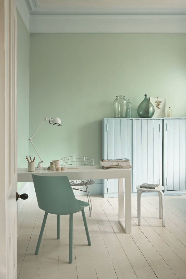 Fountain Green Paint Colour By Sanderson Proyectos In 2019