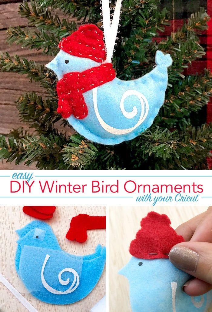 Make A Cute Winter Birdie Felt Ornament 100 Directions Felt