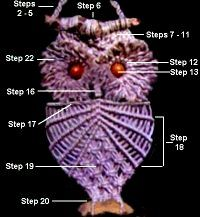 """macrame owl.  I still have mine.  who didn't macrame in the 70""""s?"""