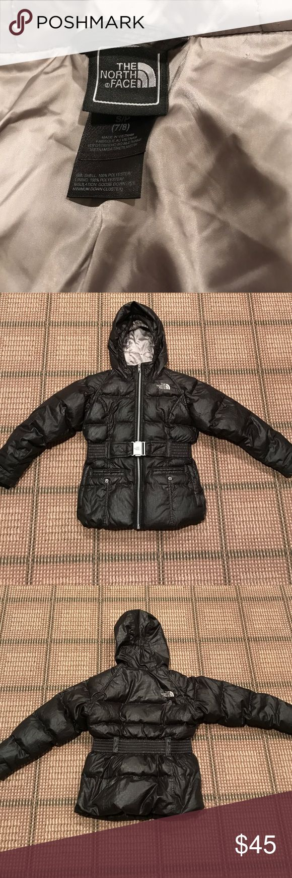 Girls 7/8 north face black black winter coat Girls 7/8 north face black black winter coat. Gently worn. North Face Jackets & Coats Puffers