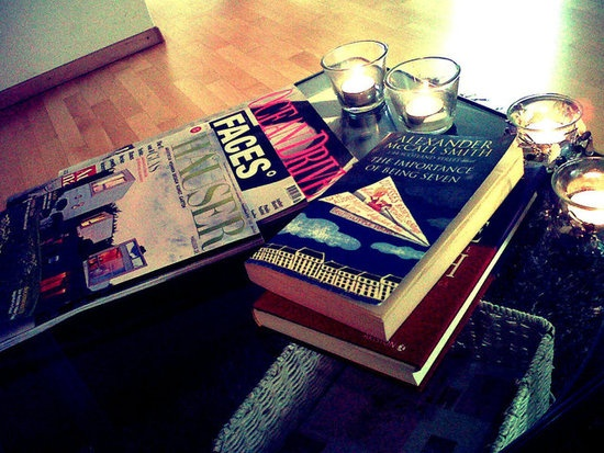 Magazines and books in every corner of my home...