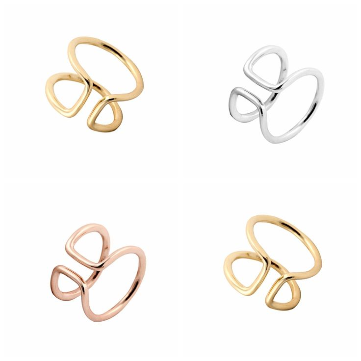 Min 1pc 2015 Fashion Simple Open Wire Band Rings Women JZ015