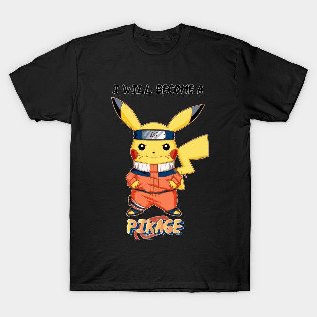 Hello to all! Do you love pokemon and Pikachu? Are you Naruto lovers? And so why not catch this rare exemplary of Pikage? You can on Teepublic! #pikachu #pokemon #tshirt #nerd #naruto #crossover #tshirts #teepublic #fanart