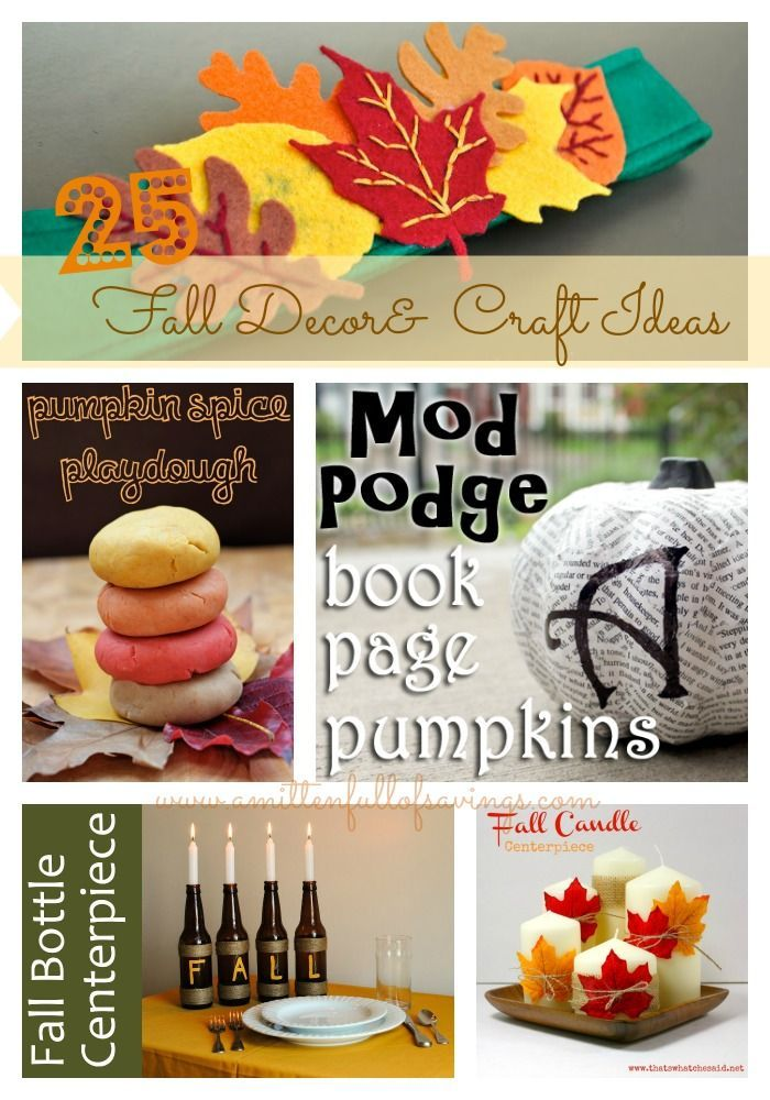 25 Fall Decor and craft ideas to try! It's time to get ready for Fall!